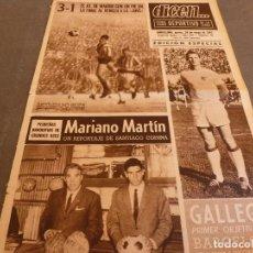 Coleccionismo deportivo: DICEN(20-5-65)FINAL RECOPA WEST HAM 2 MUNICH 0,COPA FERIAS AT.MADRID 3 JUVENTUS 1,MARIANO MARTIN.. Lote 90356167