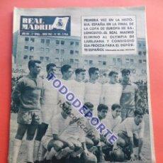 Coleccionismo deportivo: BOLETIN REVISTA OFICIAL REAL MADRID 1962 Nº 145 BENFICA CAMPEON COPA DE EUROPA 61/62 - BASKET FINAL . Lote 85656976