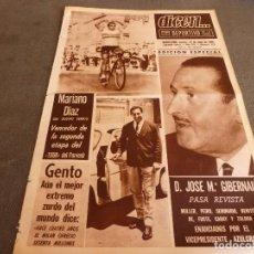 Coleccionismo deportivo: DICEN(22-6-65)MAÑANA FINAL FERIAS JUVENTUS-FERENCVAROS,GENTO(R.MADRID)MEJOR EXTREMO MUNDIAL.. Lote 86044560