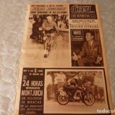 Coleccionismo deportivo: DICEN(10-7-65)CICLISMO EL TOUR-65,24 HORAS MOTOCICLISMO MONTJUICH CON PIRELLI COLABORACION ESPECIAL. Lote 86048624