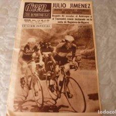 Coleccionismo deportivo: DICEN(1-7-65)CICLISMO EL TOUR-65 EDICIÓN ESPECIAL,PEREDA(BARÇA). Lote 86048968