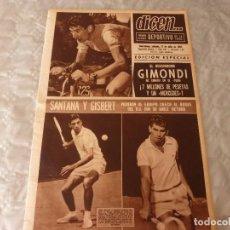 Coleccionismo deportivo: DICEN(17-7-65)CICLISMO,EL DESCONOCIDO GIMONDI GANÓ EL TOUR-65.. Lote 86049588