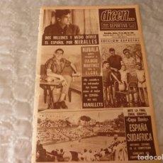 Coleccionismo deportivo: DICEN(22-7-65)KUBALA QUIERE RECUPERAR EULOGIO MARTINEZ PARA ELCHE.ANDERLECHT Y STANDARD EN EUROPA . Lote 86049996