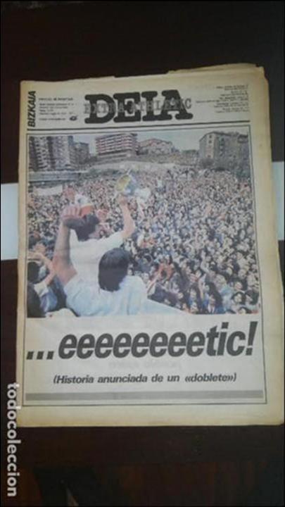 PERIODICO DEIA EXTRA ATHLETIC (Coleccionismo Deportivo - Revistas y Periódicos - otros Fútbol)