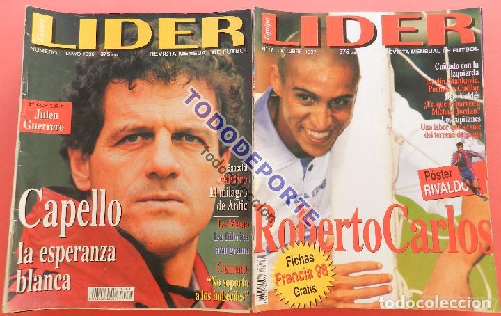 REVISTA EQUIPO LIDER COLECCION COMPLETA Nº 1 AL 34 LOTE PRIMERAS REVISTAS POSTER FICHAS 96-98 (Coleccionismo Deportivo - Revistas y Periódicos - otros Fútbol)