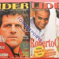Coleccionismo deportivo: REVISTA EQUIPO LIDER COLECCION COMPLETA Nº 1 AL 34 LOTE PRIMERAS REVISTAS POSTER FICHAS 96-98. Lote 220572626
