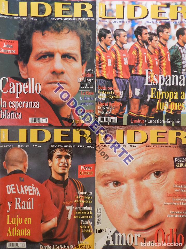 Coleccionismo deportivo: REVISTA EQUIPO LIDER COLECCION COMPLETA Nº 1 AL 34 LOTE PRIMERAS REVISTAS POSTER FICHAS 96-98 - Foto 2 - 220572626