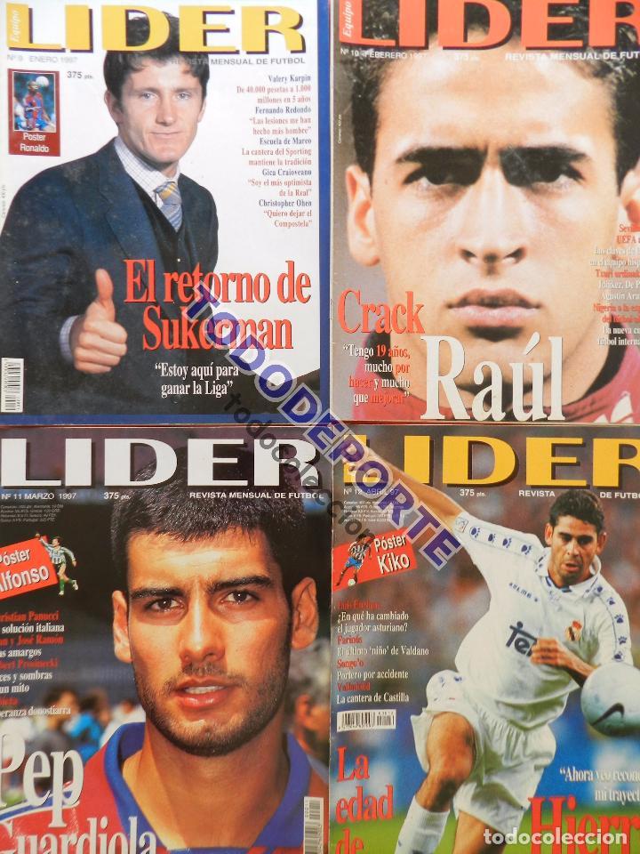 Coleccionismo deportivo: REVISTA EQUIPO LIDER COLECCION COMPLETA Nº 1 AL 34 LOTE PRIMERAS REVISTAS POSTER FICHAS 96-98 - Foto 4 - 220572626