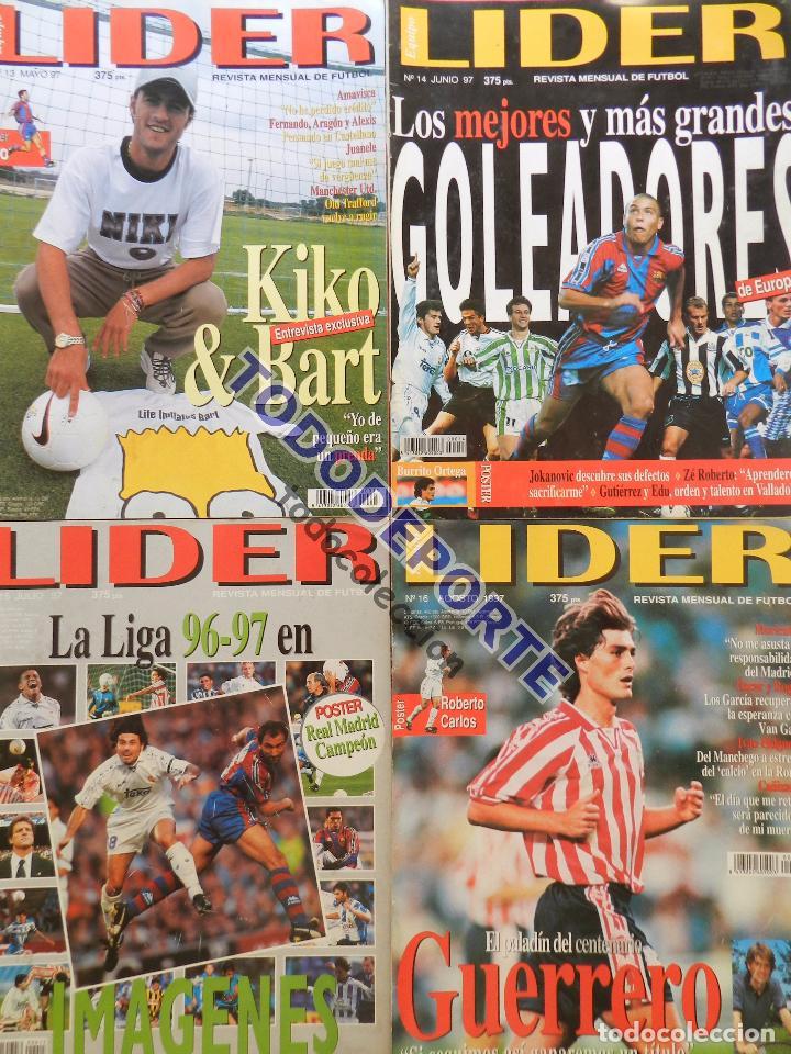 Coleccionismo deportivo: REVISTA EQUIPO LIDER COLECCION COMPLETA Nº 1 AL 34 LOTE PRIMERAS REVISTAS POSTER FICHAS 96-98 - Foto 5 - 220572626