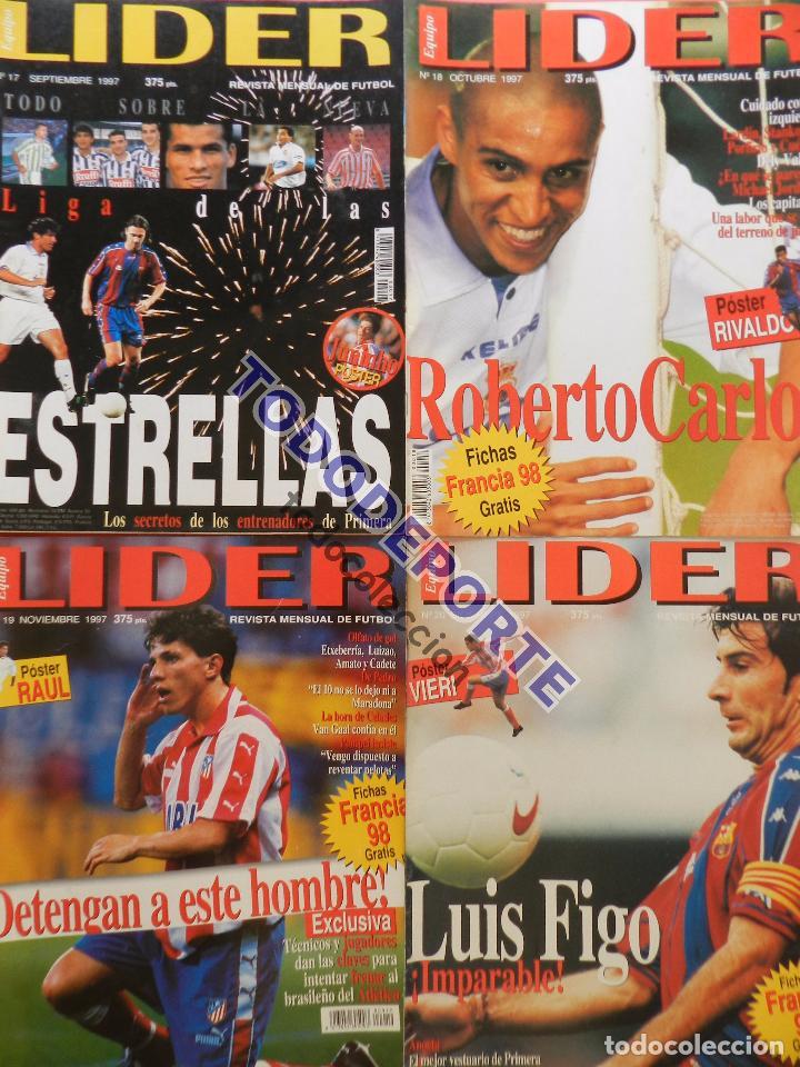 Coleccionismo deportivo: REVISTA EQUIPO LIDER COLECCION COMPLETA Nº 1 AL 34 LOTE PRIMERAS REVISTAS POSTER FICHAS 96-98 - Foto 6 - 220572626