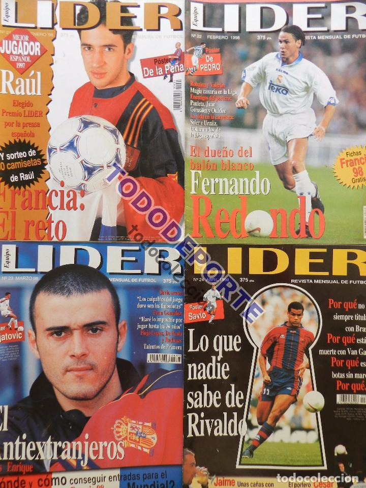 Coleccionismo deportivo: REVISTA EQUIPO LIDER COLECCION COMPLETA Nº 1 AL 34 LOTE PRIMERAS REVISTAS POSTER FICHAS 96-98 - Foto 7 - 220572626