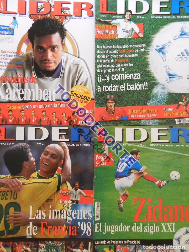 Coleccionismo deportivo: REVISTA EQUIPO LIDER COLECCION COMPLETA Nº 1 AL 34 LOTE PRIMERAS REVISTAS POSTER FICHAS 96-98 - Foto 8 - 220572626