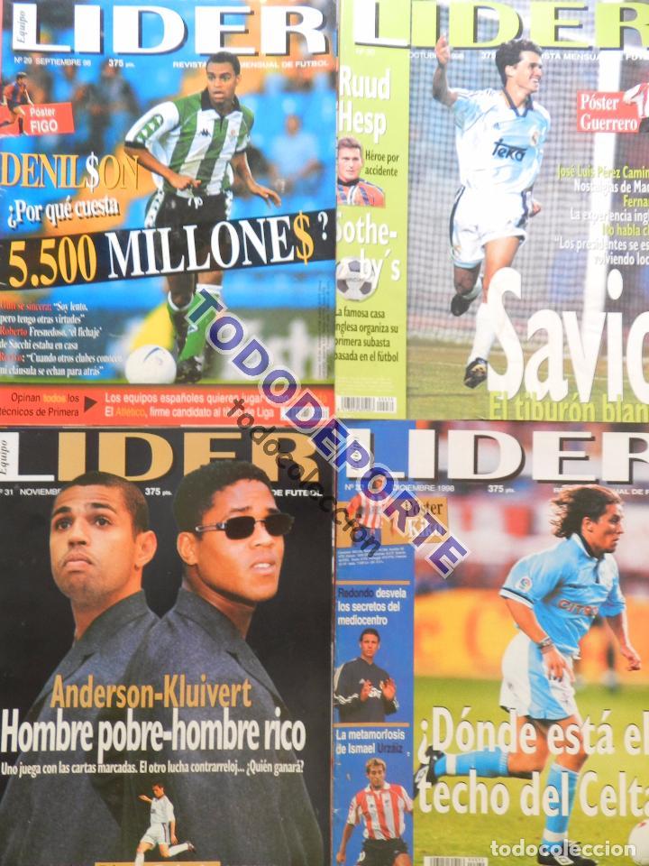 Coleccionismo deportivo: REVISTA EQUIPO LIDER COLECCION COMPLETA Nº 1 AL 34 LOTE PRIMERAS REVISTAS POSTER FICHAS 96-98 - Foto 9 - 220572626