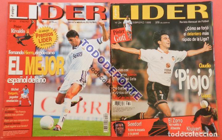 Coleccionismo deportivo: REVISTA EQUIPO LIDER COLECCION COMPLETA Nº 1 AL 34 LOTE PRIMERAS REVISTAS POSTER FICHAS 96-98 - Foto 10 - 220572626