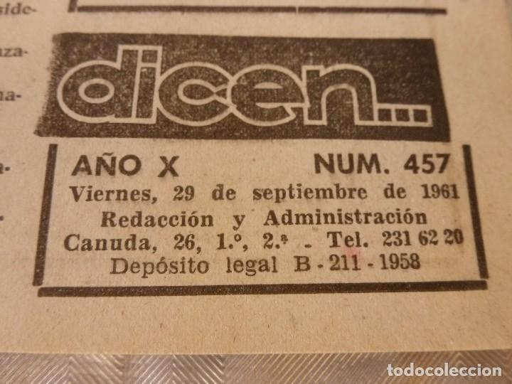 (ML)DICEN(29-9-61) COPA FERIAS ESPAÑOL 2 HANNOVER 0,ENTRENO BARÇA Y PROX.BARÇA-SELECCIÓN BERLIN. (Coleccionismo Deportivo - Revistas y Periódicos - otros Fútbol)