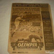 Coleccionismo deportivo: OLIMPIA, SEMANARIO GRAFICO DEPORTIVO . N° 87 , 1954. Lote 86795748