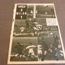 Coleccionismo deportivo: (ML)DICEN (28-11-59)COPA EUROPA BARÇA 5 MILAN 1.. Lote 87620760