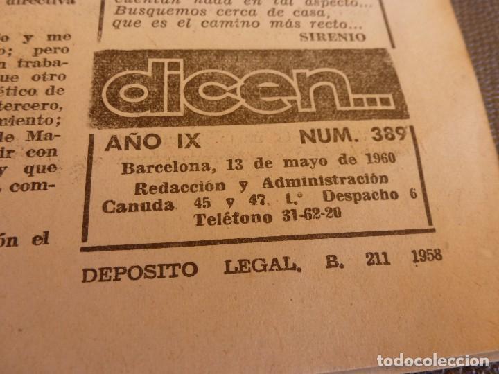 (ML)DICEN (13-5-60) EN SARRIÁ ESPAÑOL 1 FLAMENGO 0. (Coleccionismo Deportivo - Revistas y Periódicos - otros Fútbol)