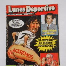 Coleccionismo deportivo: LUNES DEPORTIVO. Nº NUMERO 1. MARTES 25 DE SEPTIEMBRE DE 1984 REVISTA SATIRICA Y DESCARADA. TDKC9. Lote 87737708