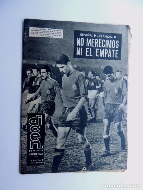 REVISTA DEPORTIVA - DICEN ( 11-1-1963 ) ESPAÑA 0 - FRANCIA 0 / EL CESE DE KUBALA - BARCELONA (Coleccionismo Deportivo - Revistas y Periódicos - otros Fútbol)