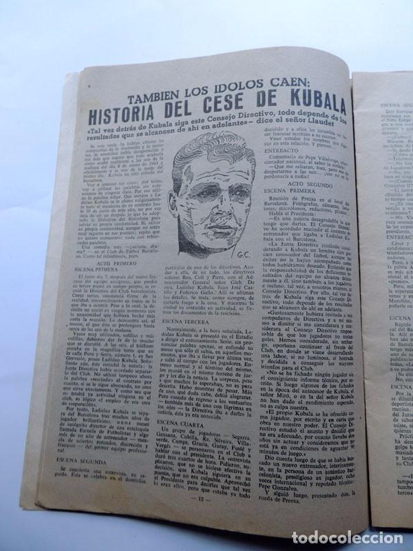 Coleccionismo deportivo: REVISTA DEPORTIVA - DICEN ( 11-1-1963 ) ESPAÑA 0 - FRANCIA 0 / EL CESE DE KUBALA - BARCELONA - Foto 2 - 88345776