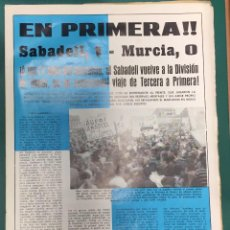 Collectionnisme sportif: ASCENSO A PRIMERA DIVISION SABADELL DEPORTES Nº 20 JUNIO DE 1965 . Lote 88784408