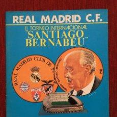 Coleccionismo deportivo: PROGRAMA OFICIAL II TROFEO SANTIAGO BERNABEU REAL MADRID BAYERN MUNICH DYNAMO KYIV BENFICA 1980. Lote 89046900