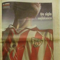 Coleccionismo deportivo: ATHLETIC CLUB DE BILBAO, SUPLEMENTO DEL CENTENARIO DEL ATHLETIC DE EL CORREO, 30-05-1998, FÚTBOL. Lote 90452809
