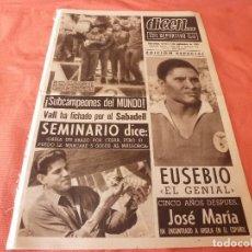 Coleccionismo deportivo: DICEN (3-9--65)PROXIMA FINAL INTERCONTINENTAL MILÁN-INDEPENDIENTE.EUSEBIO(PORTUGAL)SEMINARIO(BARÇA). Lote 90518745