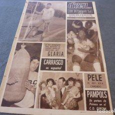 Coleccionismo deportivo: DICEN(12-1-67)PELÉ(BRASIL)PAMPOLS(EUROPA)CARRASCO(BOXEO)EL RUGBY ESPAÑOL.. Lote 91135975