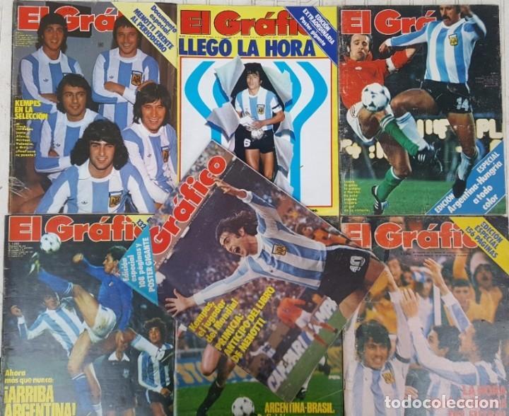 384df79dcb7b0 COPA DEL MUNDO ARGENTINA 1978 CAMPEON MUNDIAL 7 REVISTAS EL GRAFICO KEMPES  FILLOL PASSARELLA MENOTTI (