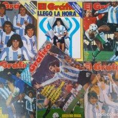 Coleccionismo deportivo: COPA DEL MUNDO ARGENTINA 1978 CAMPEON MUNDIAL 7 REVISTAS EL GRAFICO KEMPES FILLOL PASSARELLA MENOTTI. Lote 91199620