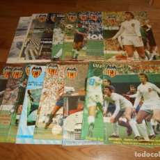Coleccionismo deportivo: LOTE 17 REVISTA DEL VALENCIA CLUB DE FUTBOL CON POSTER NºS. Lote 91444090