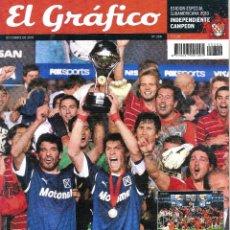 Coleccionismo deportivo: EL GRÁFICO (ARGENTINA) EXTRA INDEPENDIENTE CAMPEÓN SUDAMERICANA 2010. Lote 91751700
