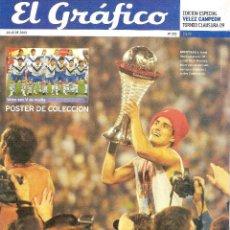 Coleccionismo deportivo: EL GRÁFICO (ARGENTINA) EXTRA VÉLEZ SARSFIELD CAMPEÓN CLAUSURA 2009. Lote 91752500