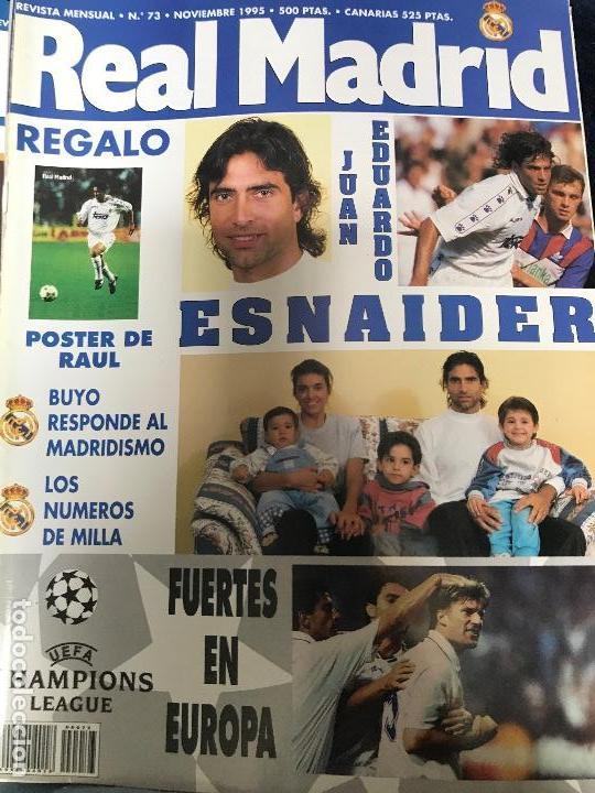 ANTIGUA REVISTA REAL MADRID NUMERO 73 1995 (Coleccionismo Deportivo - Revistas y Periódicos - otros Fútbol)