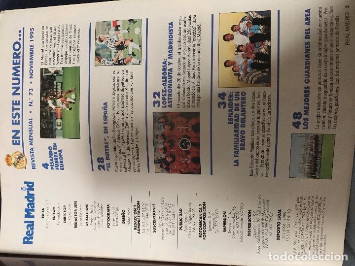 Coleccionismo deportivo: ANTIGUA REVISTA REAL MADRID NUMERO 73 1995 - Foto 2 - 106686751