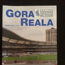 Coleccionismo deportivo: REVISTA GORA REALA Nº1 REAL SOCIEDAD - HUESCA. Lote 92044650