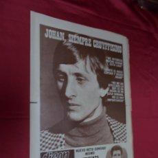Coleccionismo deportivo: DICEN. JOHAN CRUYFF ME INTERESA MUCHO GANAR ESTA LIGA. Nº 4.011. 6 ENERO 1978.. Lote 92104865
