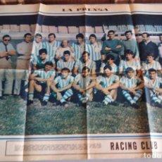 Coleccionismo deportivo: POSTER CENTRAL DIARIO LA PRENSA RACING CLUB 1971. Lote 92402280