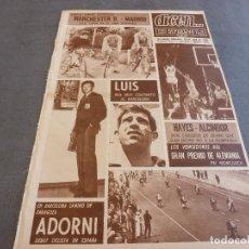 Coleccionismo deportivo: DICEN(24-4-68)HOY COPA DE EUROPA MANCHESTER UTD.-REAL MADRID EN OLD TRAFFORD.. Lote 92411865