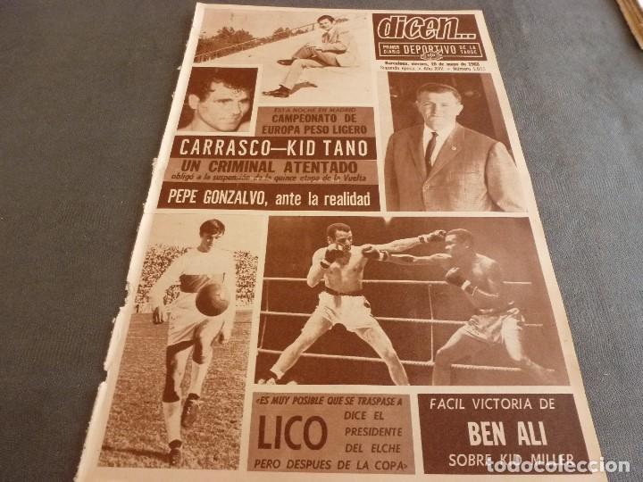 DICEN (10-5-68)COPA EUROPA BENFICA 2 JUVENTUS 0,PEDRO CARRASCO(BOXEO) (Coleccionismo Deportivo - Revistas y Periódicos - otros Fútbol)