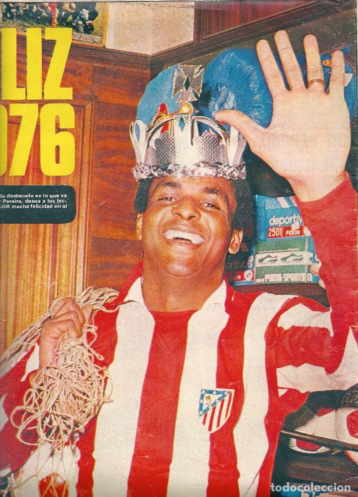 ATLÉTICO DE MADRID: PÓSTER DE LUIZ PEREIRA. 1976 (Coleccionismo Deportivo - Revistas y Periódicos - otros Fútbol)