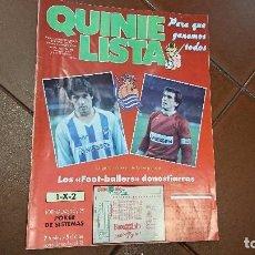 Collectionnisme sportif: REVISTA QUINIELISTA 1988, N.126, CON POSTER. Lote 95110299