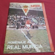 Coleccionismo deportivo: DIARIO LÍNEA ESPECIAL HOMENAJE AL REAL MURCIA. ASCENSO AÑO 1980. Lote 95333118