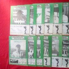 Coleccionismo deportivo: BETIS HELIÓPOLIS DEPORTIVO LOTE 12 REVISTAS FUTBOL 1991 92 NUM 5 8 9 10 11 12 14 15 16 17 18 19. Lote 95619511