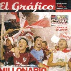 Coleccionismo deportivo: ESPECIAL EL GRÁFICO (ARGENTINA) RIVER PLATE CAMPEÓN TORNEO CLAUSURA 2004. Lote 95623519
