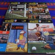 Coleccionismo deportivo: REVISTA ATLÉTICO DE MADRID NºS 76 CON PÓSTER PLANTILLA 1976 1977, 78, 80 Y 81. BUEN ESTADO Y RARAS.. Lote 95667851