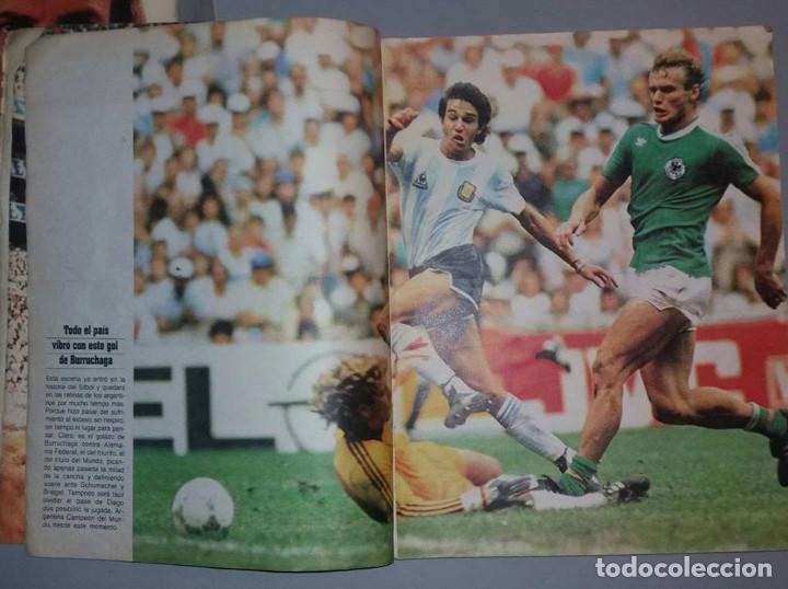 Coleccionismo deportivo: LAS 100 MEJORES FOTOS MUNDIAL MEXICO 1986 MARADONA El Grafico ARGENTINA - Foto 4 - 156467842