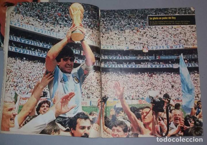Coleccionismo deportivo: LAS 100 MEJORES FOTOS MUNDIAL MEXICO 1986 MARADONA El Grafico ARGENTINA - Foto 5 - 156467842